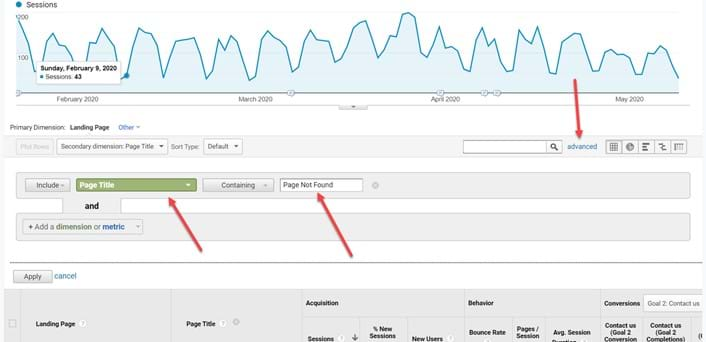 Advanced filters in Google Analytics