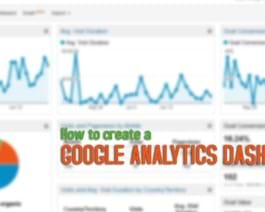 How To Create A Google Analytics Dashboard